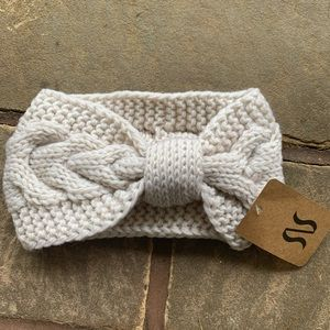 Cream Knit Crochet headband